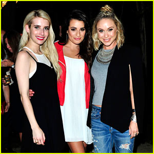 Emma Roberts Celebrates Unretouched Aerie Campaign with Lea Michele!