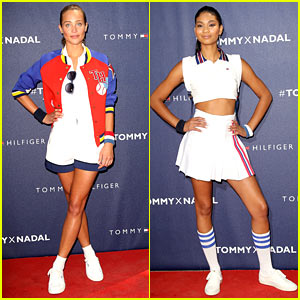Hannah Davis & Chanel Iman Bring Fashion to Tennis World