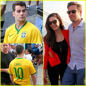 Henry Cavill Gets a Custom Brazil Soccer Jersey!