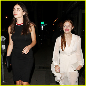 Holland Roden & Crystal Reed Have a 'Teen Wolf' Reunion at Dinner!