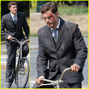 Jamie Dornan Is All Bloodied Up for 'Anthropoid' Filming