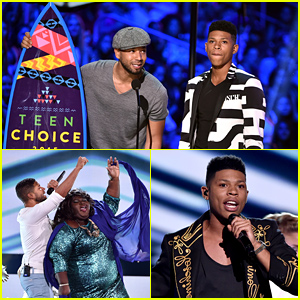 Empire's Jussie Smollett & Bryshere Gray Perform 'You're So Beautiful' at Teen Choice Awards 2015 - Watch Now!