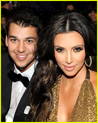 Kim Kardashian Spends Time with Her Brother Rob