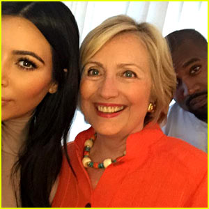 Kim Kardashian Takes Selfie with Hillary Clinton & Kanye West