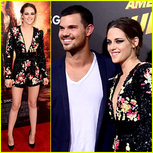 Kristen Stewart Reunites with Taylor Lautner at 'American Ultra' Premiere!