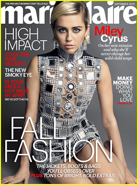 Miley Cyrus Tells 'Marie Claire' She Doesn't Want To Be A 'Conventional Role Model'