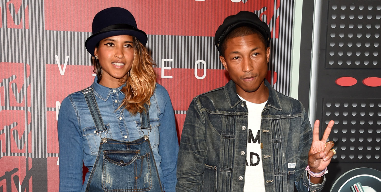 Pharrell Williams & Wife Helen Lasichanh Walk VMAs 2015