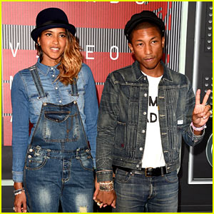 Pharrell Williams & Wife Helen Lasichanh Walk VMAs 2015 Red Carpet!