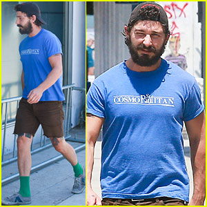 Shia LaBeouf Shows Off New Tupac Tattoo