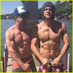 Stephen Amell & Jared Padalecki Display Their Rock Hard Six Pack Abs!