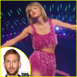 Taylor Swift Reportedly Mouths 'I Love You' to Calvin Harris During Concert (Video)