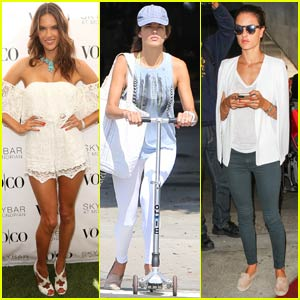 Alessandra Ambrosio Hosts VO|CO Summer Closing Pool Party