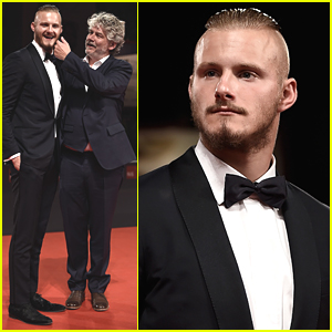 Alexander Ludwig Re-Defines 'Dapper' At 'Go With Me' Premiere In Venice