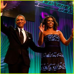 Barack & Michelle Obama Get Glam For Washington D.C. Awards Dinner