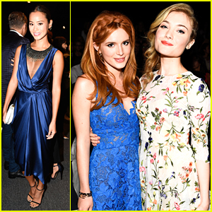 Jamie Chung & Bella Thorne Help Monique Lhuillier Celebrate Her Birthday At NYFW