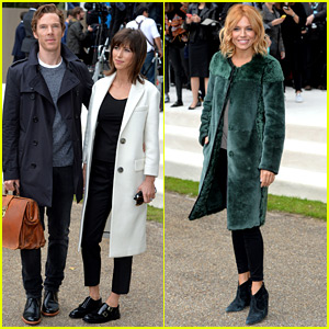 Benedict Cumberbatch & Sophie Hunter Hit Up the Burberry Show!
