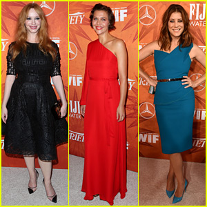 Christina Hendricks & Maggie Gyllenahaal Kick Off Emmys Weekend with Variety & Women in Film