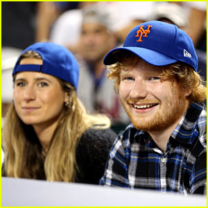 Ed Sheeran Watches a Mets Game with Pal Cherry Seaborn