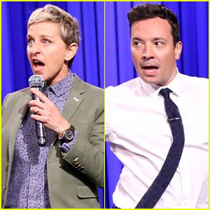 Ellen DeGeneres & Jimmy Fallon Compete in Epic Lip Sync Battle - Watch Now!