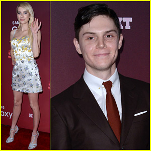 Emma Roberts & Evan Peters Hit Up The 'Scream Queens' Premiere