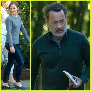 Emma Watson & Tom Hanks 'Circle' Around Pasadena For Filming