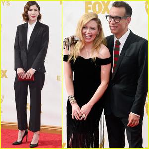 Natasha Lyonne & Fred Armisen Couple Up at Emmys 2015!