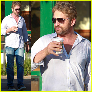 Gerard Butler Gets in Some Shopping on Saturday