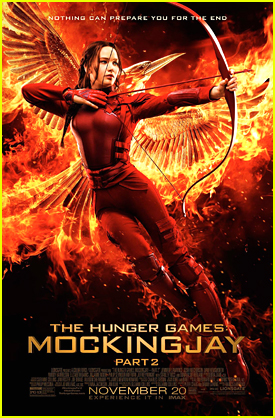Jennifer Lawrence Sets The Final 'The Hunger Games: Mockingjay Part 2' Poster On Fire