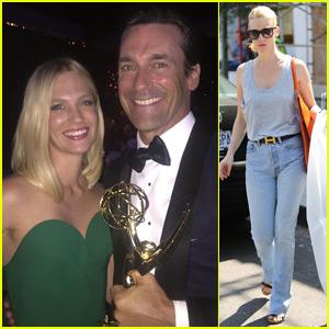 January Jones on Jon Hamm's Emmy Win: 'Finally!'