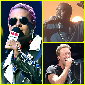 Pink-Haired Jared Leto Gives Kanye West an Epic Introduction at iHeartRadio Music Festival 2015!
