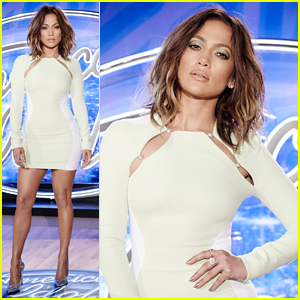 Jennifer Lopez Stuns in Tight Dress at 'American Idol' Auditions