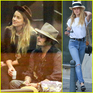 Johnny Depp & Amber Heard Roam Around Rio Together