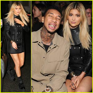 Kylie Jenner & Tyga Cozy Up at Alexander Wang Show in NYC
