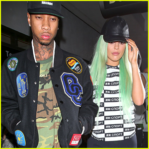 Kylie Jenner & Tyga Land Back in Los Angeles After NYFW!