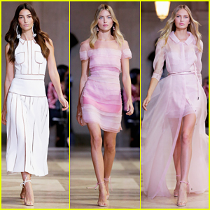 Lily Aldridge, Martha Hunt & Romee Strijd Are House Of Herrera Ladies At NYFW!