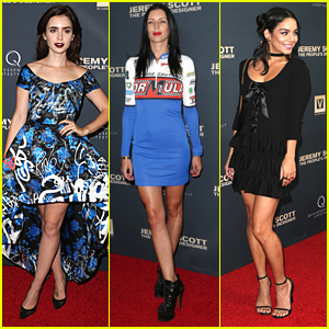 Lily Collins & Newly Engaged Liberty Ross Hit Up Jeremy Scott's 'The People's Designer' Premiere