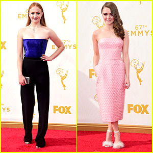 Sophie Turner & Maisie Williams Bring The Game's To Emmy Awards 2015