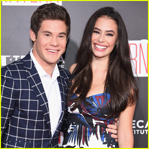 Adam DeVine & Chloe Bridges Couple Up for 'The Intern' Premiere With Nat Wolff