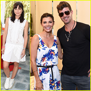 Robin Thicke & Selma Blair Bring Their Kids To Car Seat Safety Awareness Party!