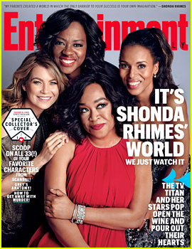 Shonda Rhimes & Her Leading Ladies Cover EW's New Issue!