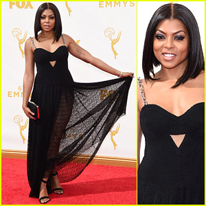 Taraji P. Henson Goes Slightly Sheer on Emmys 2015 Red Carpet