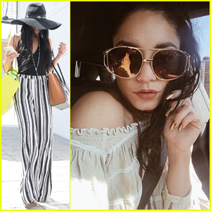 Vanessa Hudgens Matches Her Nails to Her Sunglasses