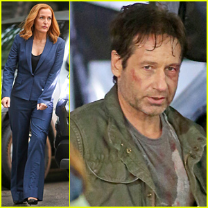 Gillian Anderson & David Duchovny Wrap 'X-Files' Filming!