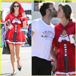 Alessandra Ambrosio Is A Red Hot Little Red Riding Hood