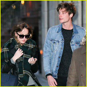Dakota Johnson Bundles Up in NYC with Boyfriend Matthew Hitt