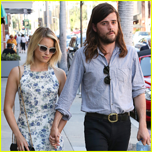 Dianna Agron & Winston Marshall Enjoy Romantic Walk After Lunch in Los Angeles