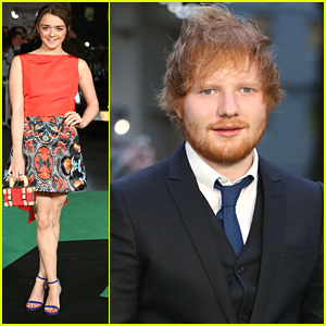 Maisie Williams Supports Ed Sheeran At 'Jumpers For Goalposts' London Premiere