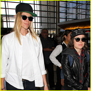 Ellen Page & Girlfriend Samantha Thomas Jet Out of Town