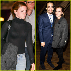Emma Watson Catches a Showing of Broadway's Hit Show 'Hamilton'!