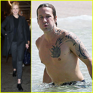 Keith Urban Went Shirtless at the Beach in Hawaii!